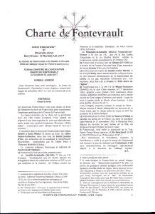 Face au torrent  qui menace de submerger la France, aidez le petit ruisseau de la Charte de Fontevrault à devenir une grande rivière : Relayez ce mail.